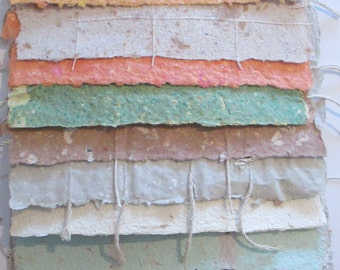 Decorative Paper, Handmade Paper Pack, 20 sheets of Eco Friendly Paper, Hand Torn Paper, Bookbinding, Craft Supply, Craft Lover Gift Set,