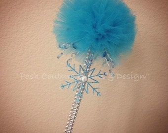 Winter Wonderland Tulle Puff Wands