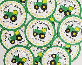 Personalized Tractor Favor Tags,Set of 12