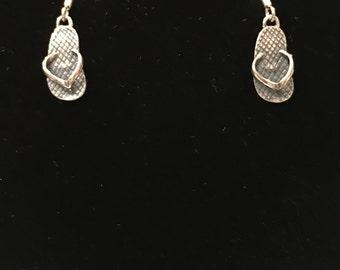 Sterling silver (925) flip flop earrings
