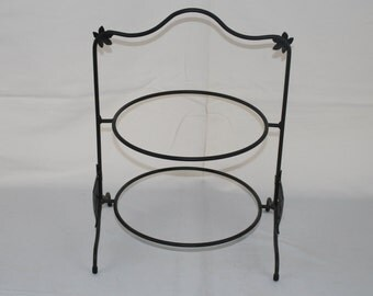 Longaberger Foundry Wrought Iron Two Pie Server/holder