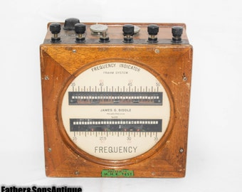 Frequency Indicator Frahm System James G Biddle