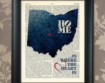 Ohio Wall Art ohio wall art | etsy