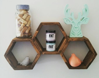 Mini Hexagon Shelves