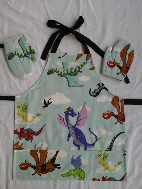 Dragons In The Kitchen Ii Homemade Apron Set For Ages 2 To 5