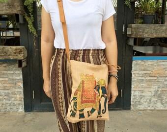 Elephant Hippie Crossbody Diaper bag Hobo Bag Sling Shoulder Bag Handbag Purse Hobo Neon Printed Purse Hippie Shoulder Hipster Weekender