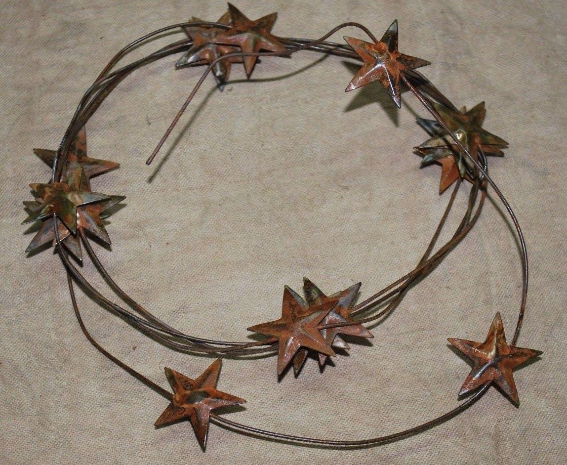 Rusty tin craft supplies -  3 95