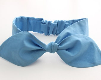 Baby / infant headband - super soft fabric - solid blue
