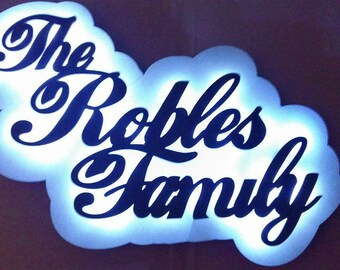 """Lighted Name Signs -26x18"""" - Will customize to your specs"""