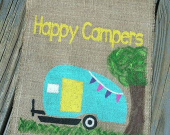 Happy camper flag Etsy