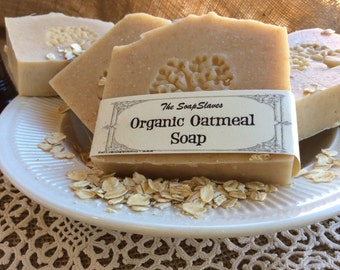 Organic Oatmeal Soap,a Soothing Soap for Sensitive Skin, Lavender Lemongrass Scented