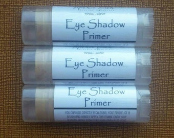 All Natural Eye Shadow Primer - Nourishing - Makeup - Mineral Cosmetics - Beauty Care - Essential Oil - Women - Gift - Tube - Organic