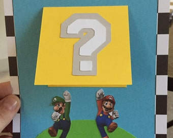 Mario Birthday Invitations