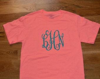 Adult Shortsleeve Monogrammed T-Shirt