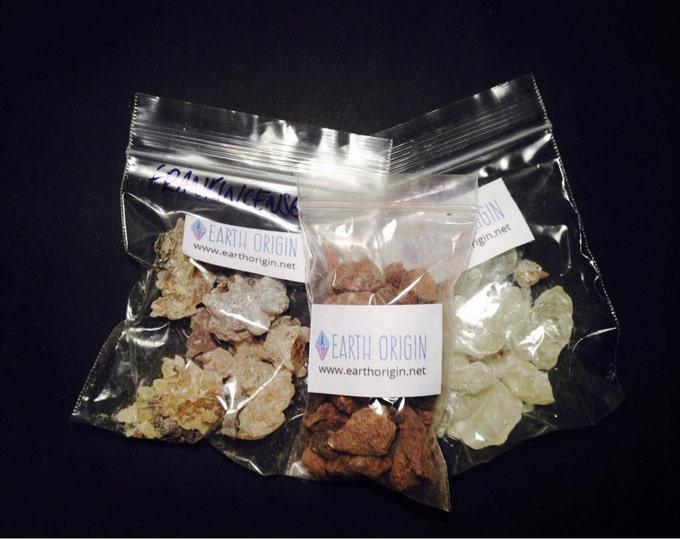 Copal + Dragon's Blood + Frankincense  Resin Incense Kit