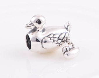 Duck Family Charm , 925 Sterling silver
