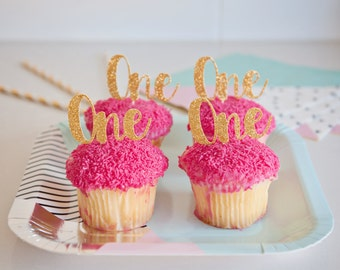 One Cupcake Toppers, Number Cupcake Toppers