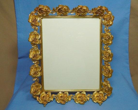 stylebuilt rose picture frame vintage gold roses frame fancy. Black Bedroom Furniture Sets. Home Design Ideas
