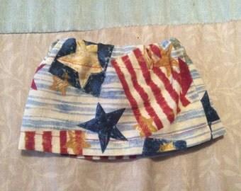 America theme Doll skirt fits American Girl