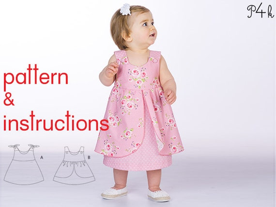 Pattern4kids Baby Pinafore Dress Pattern Baby Dress Pattern
