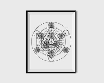 Sacred Geometry Poster - Universal Symbolism Print - Wall Art - Esoteric Art- Limited Edition Print
