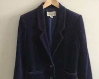 SALE PRICED Vintage 90s/ Blue Velvet Blazer
