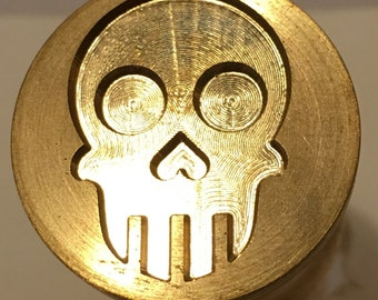 Brass Skull imprint tool