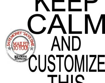 Keep Calm Personalized Custom Iron on Transfer