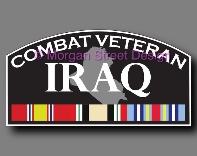 Iraq Combat Veteran Die Cut Vinyl Decal Sticker