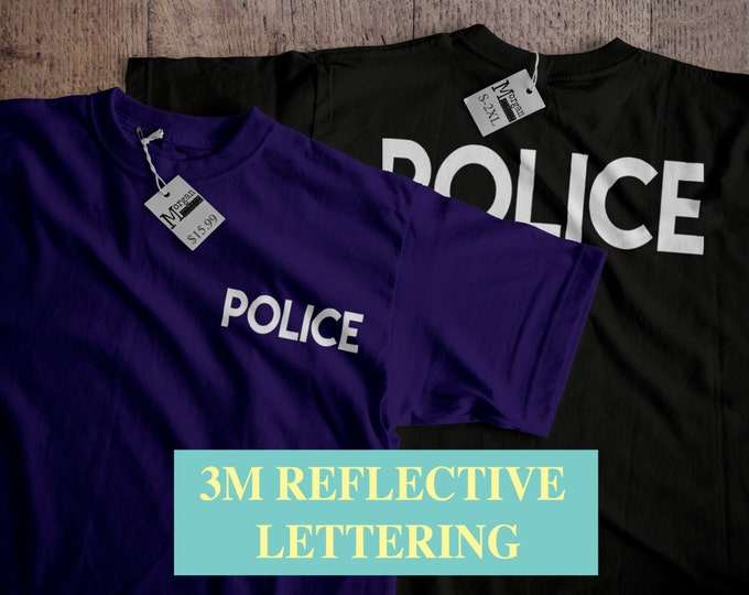 New 3M® Reflective Police T-Shirt