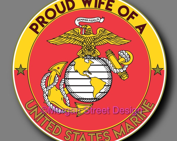 US Marine Wife Die Cut Vinyl Decal Sticker