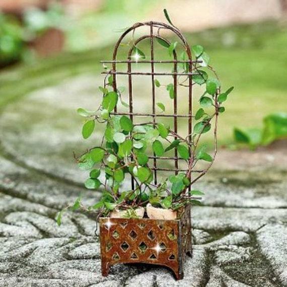 Gnome Garden: Miniature Trellis Planter Fairy Garden Trellis Fairy Garden