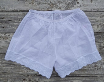 Vintage Girls Underpants Vintage White or Gray Knickers Cotton Underpants NOS modern size SMALL