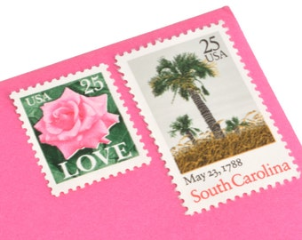 South Carolina Love Stamp Set - Vintage Postage Stamps for your wedding, event or every day mailings! Mint!