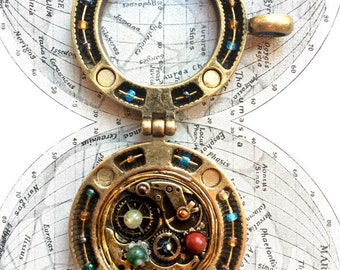 Orrery Inspired Locket/Pendant Large