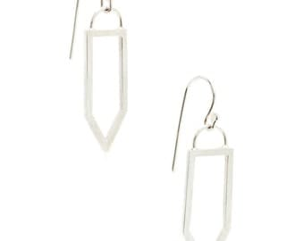 Minimal Shield Dangle Earrings