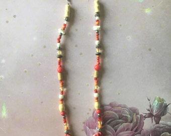 Red sunset shoulder duster earrings