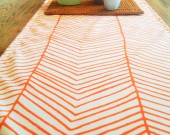 Tangerine - Cotton Table Runner