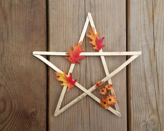 Mabon pentagram, autumn equinox decor, Mabon altar decor, pagan sabbat altar, wiccan fall decor, witches star, fall home decor, pagan gifts