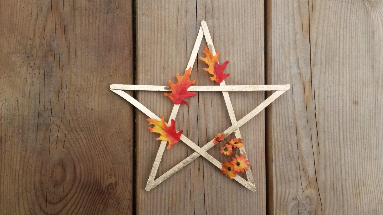 Mabon Pentagram Autumn Equinox Decor Mabon Altar Decor Pagan Sabbat Altar Wiccan Fall Decor Witches Star Fall Home Decor Pagan Gifts