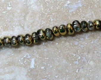 Crystal Amber Gold 5 x 7 mm TICO Beads (23)