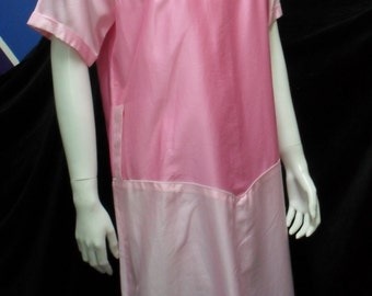 COURREGES blocked two shades of pink cotton Summer dress