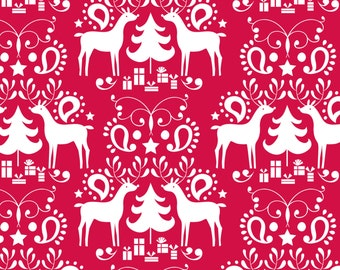 Rudolph Red fabric by Blend