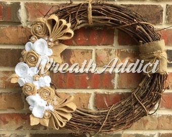 Wreath grapevine rustic