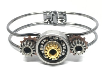 Steampunk Roller Skate Bearing Bracelet