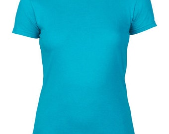 Ladies Fitted Tee, All Colors, S-2XL