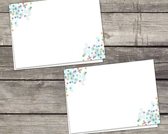 Baby Sprinkle Food Tent Labels or Cards - Place Cards - Colorful Folded Cards - Blank Folded Cards - Baby-110