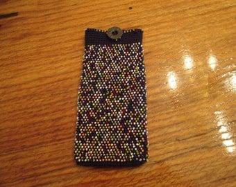 Crochet Handmade.Eyeglass case.Eyeglass holder.Crochet with beads.