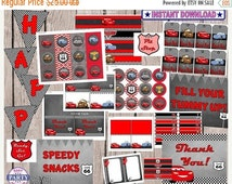 5 Dollar SALE Disney Cars Party Package, Instant download, save with this bundle, lightening Mcqueen, mator, sally, rdiator springs, cars, r