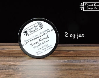 Honey Almond Body Butter | Whipped Body Butter | Whipped Shea Body Butter | Natural Body Butter | Vegan Body Butter | Shea Body Butter